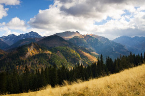 Beauty mountain panorama, Rusinowa Polana, Tatry, Poland